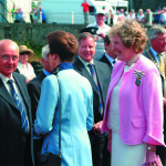 Clare Russell with HRH The Princess Royal